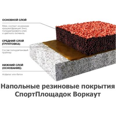 02-09-0001 Наполные резиновые покрытия спортплощадок Воркаут